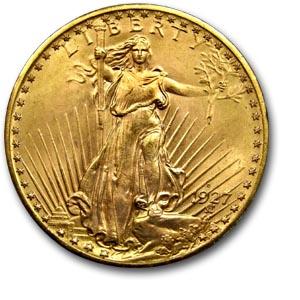 La pièce d'or de 20 dollars 1927 Denver
